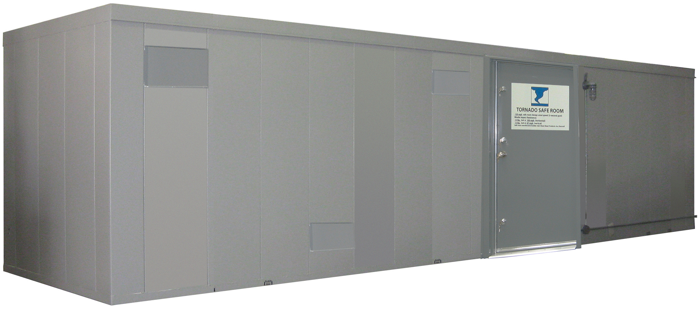 Tornado door storm door or door for safe room construction for Vault room construction